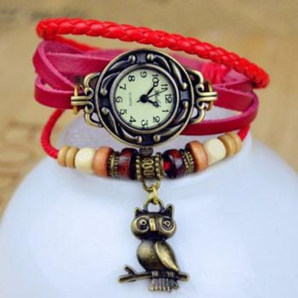 Owl Vintage Wrap Watch - Ashley Jewels - 4