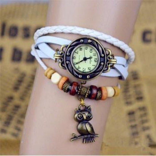 Owl Vintage Wrap Watch - Ashley Jewels - 5