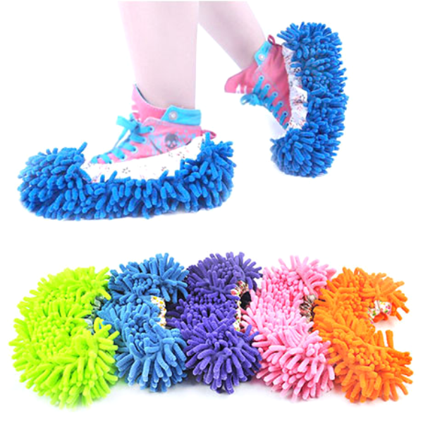Microfiber Cleaning Mop Slippers - Assorted Colors - BoardwalkBuy - 1