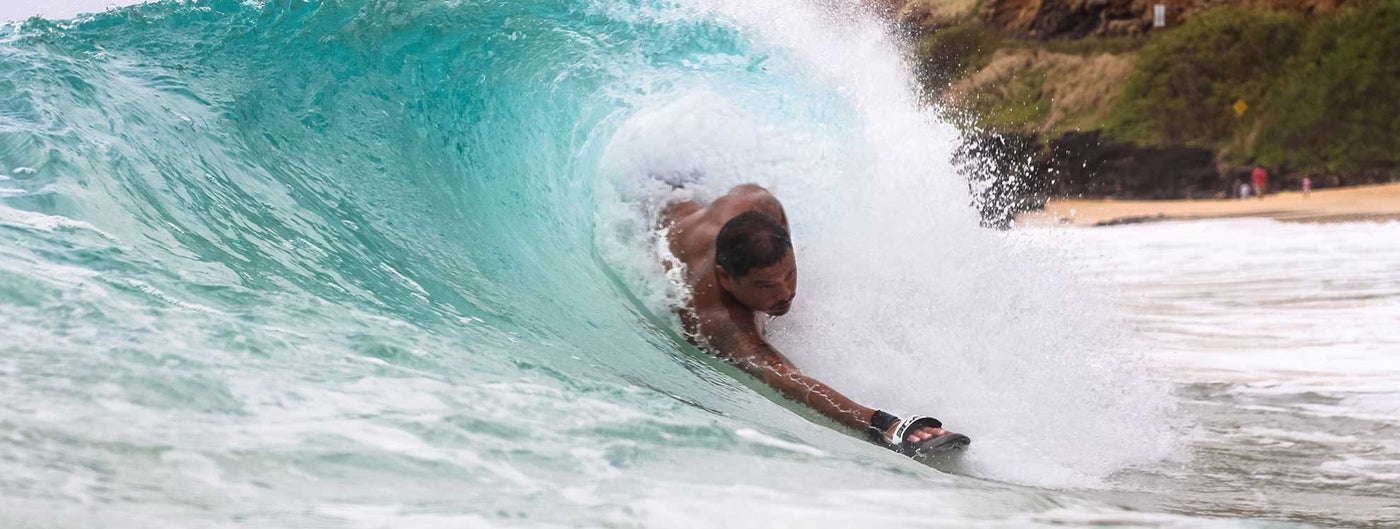 Sean Enoka On The Oahu Sandys Beach Bodysurfing Competition