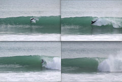 Mike baker on his handboard in Nelson New zealand