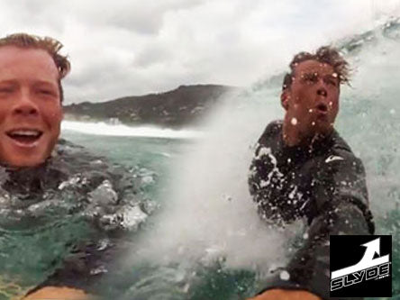 Slyde handboards handplaing and bodysurfing craziness Slyde Ryder IN AUSTRALIA have fun in Aus