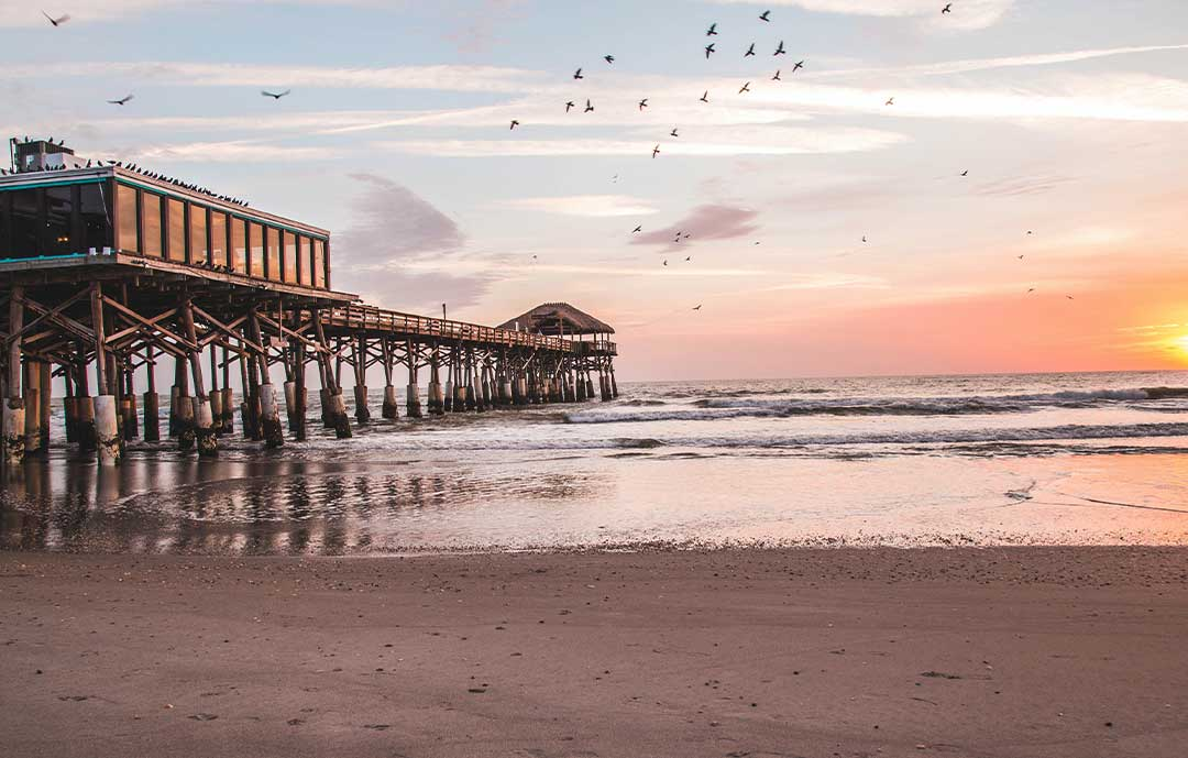 Coco Beach florida image of the pier at