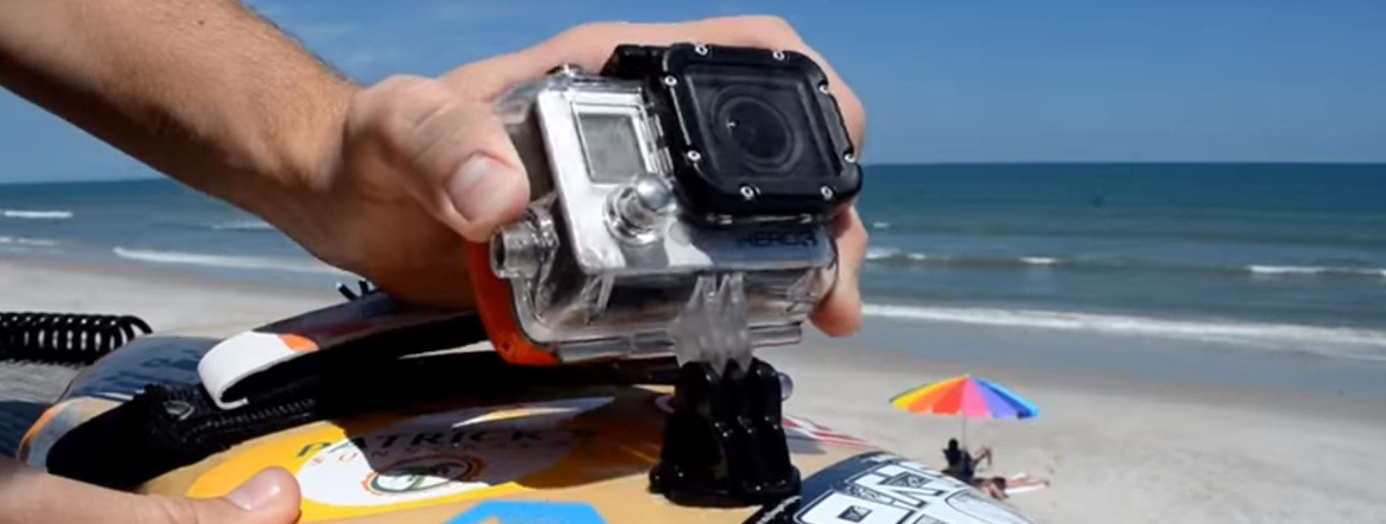 How to set up a go pro on a handboard