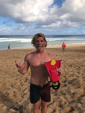 Dylan Biggerstaff Bodysurfer Pipeline Hawaii