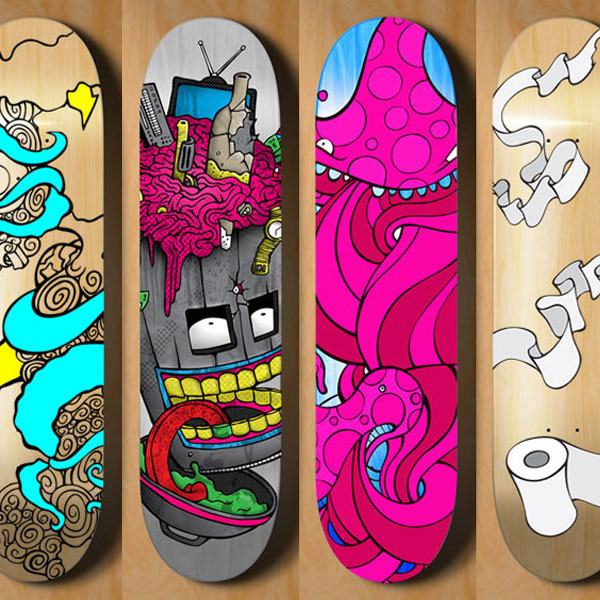 Ronald Monohan colorful skateboard art