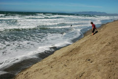 Sloat Beach San Francisco waves to surf before you die.