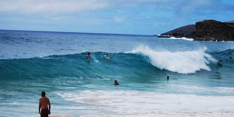 oahu  hawaii sandy's bodysurfing beach hawaii