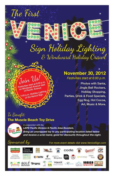 First Venice Holiday Sign Lighting