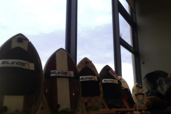 Stanton Baker Slyde Handboards display