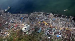 destruction from super typhoon yolanda in the philippines