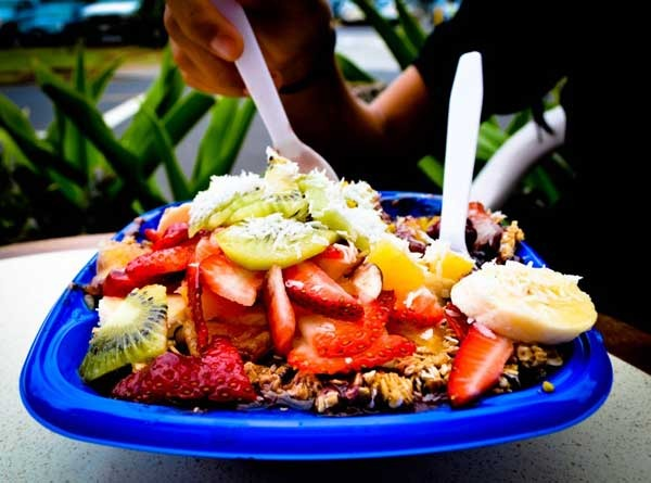 Acai pre and post session surf foods