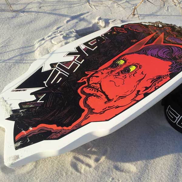 Mascatelli slyde handboards and bodysurfer handplanes artist