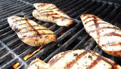 Grilled chicken post session surf foods