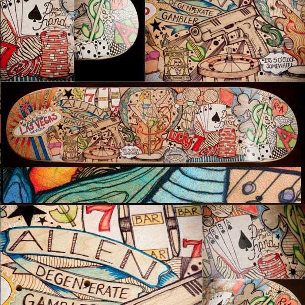 Lynnie Diede artwork slyde handboards and bodysurfer handplanes artist
