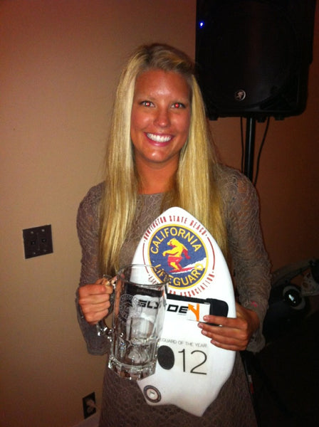 Jen Marshall Rookie of the year Huntington Beach Lifeguards