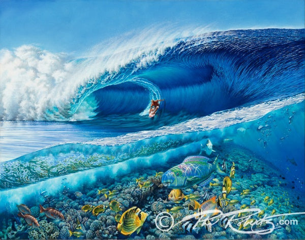 Surf painter Phil Roberts