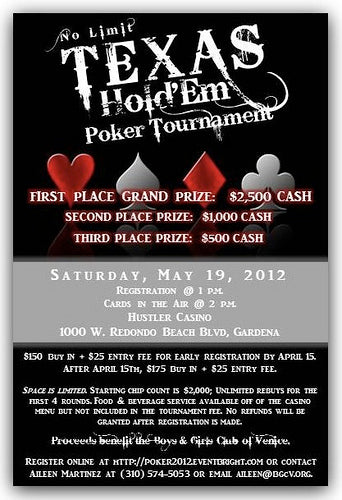 Boys and Girls Club Venice Poker Tournament