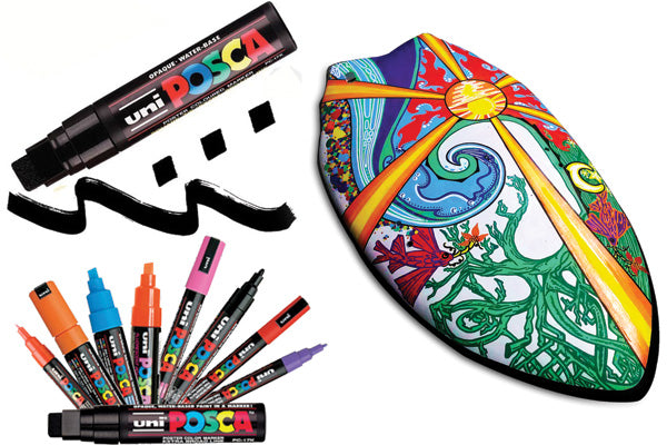 posca paint pens the best materials and paints for painting a surfboard or handplane