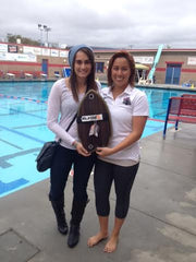 Santa Barbara City College swim team slyde handboards