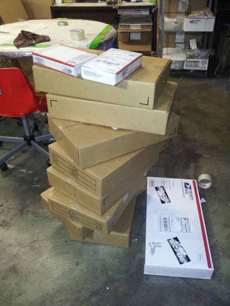 Slyde shipment of handboards ready for their new owners