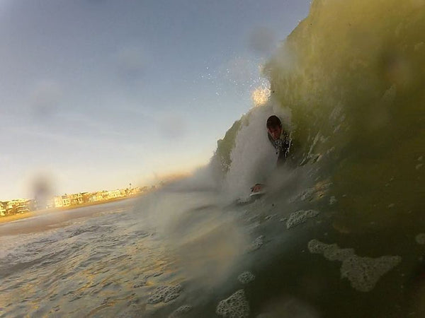 shorebreak session at El Porto