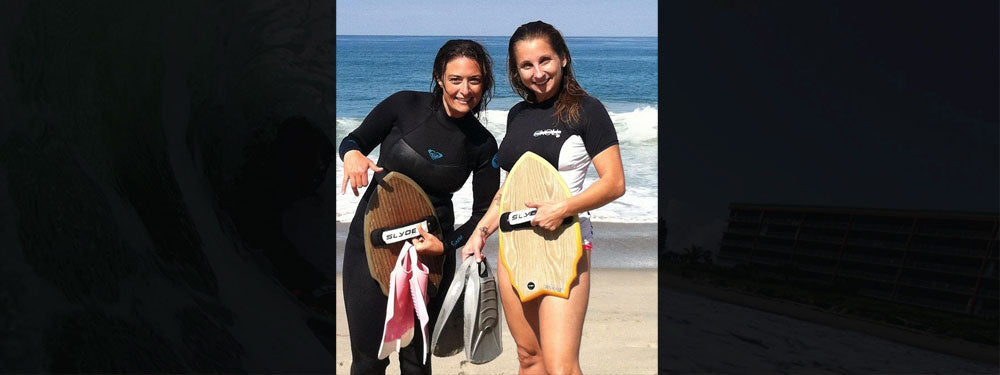 Slyde Handboards Female Bodysurfers