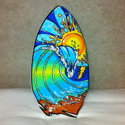 Mike Hetrick does art on a Slyde Handboard