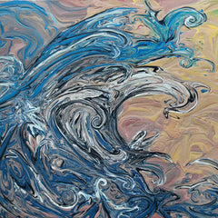 Waves beautiful ocean-inspired art