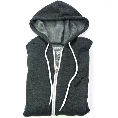 Limited Edition Follow Your Path Deep Heather Sponge Fleece Full Zip Hoodie - Unisex