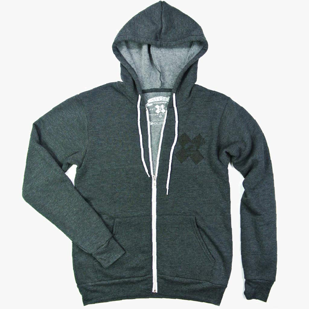 Heather Fleece Full Zip Hoodie