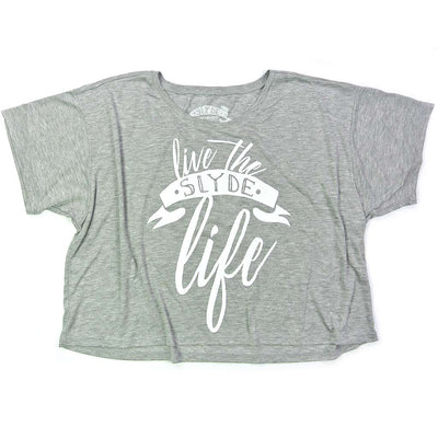 Slyde Women's Live The Slyde Life Flowy Boxy Tee - Athletic Heather