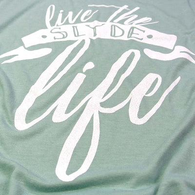 Slyde Womens Live The Slyde Life Slouchy Tank - Dusty Blue