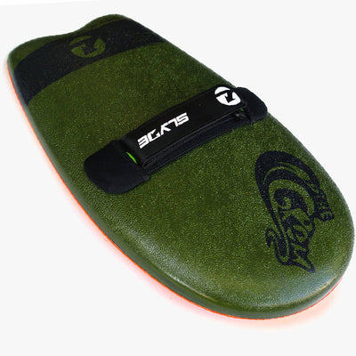 The Slyde Grom Soft Top Fun Handboard For Bodysurfing with Hand strap (Multi Colors)