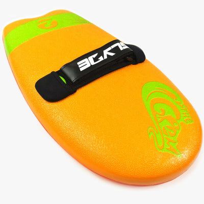 SECRET STASH - The Slyde Grom Soft Top Handboard For Bodysurfing - Orange and Pilsner