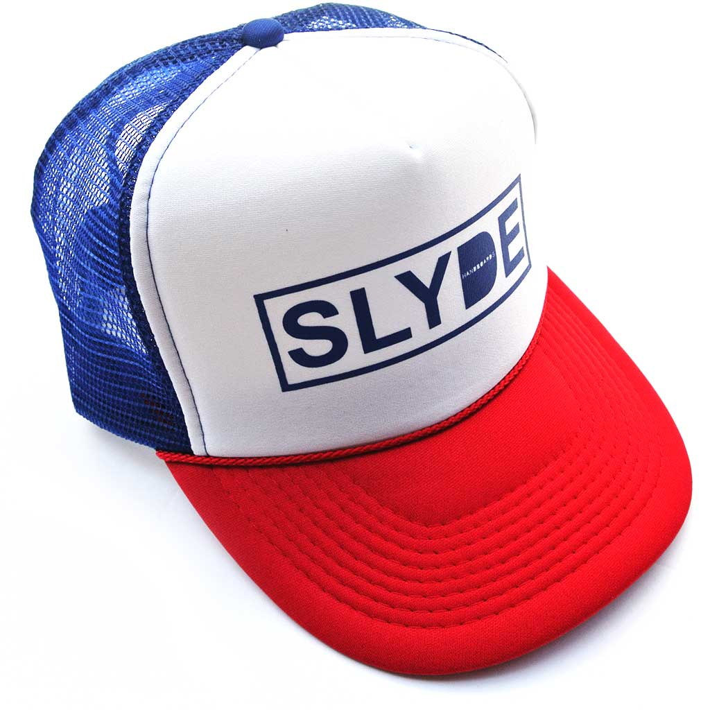 Slyde Snap back Trucker Hat Multi colors