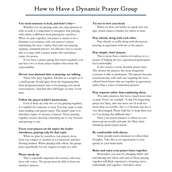 How to Have a Dynamic Prayer Group