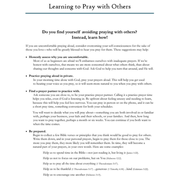 Learning to Pray with Others