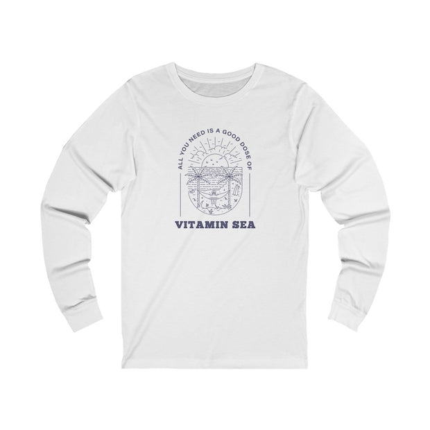 Long Sleeve Tee: All You Need is a Good Dose of Vitamin Sea