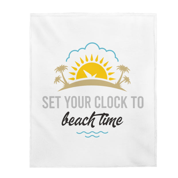 Plush Blanket: Set Your Clock to Beach Time