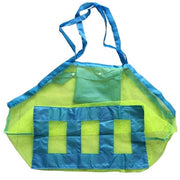 Handy pouch to carry the beach toys. No mess with sand! It all falls through