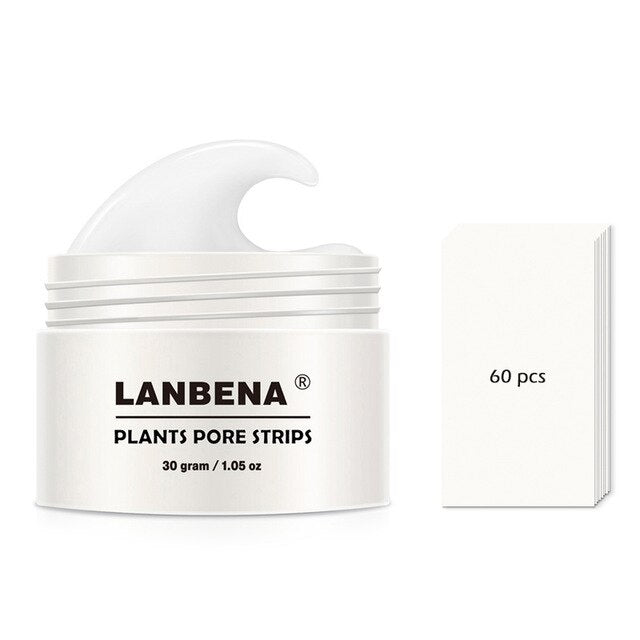 LANBENA Blackhead Remover Nose Mask Pore Strip Black Mask Peel Off Acne Treatment Deep Cleansing Face Mask Oil Control Skin Care