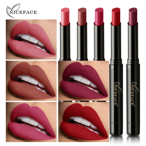 NEW NICEFACE Matte Lipstick Waterproof Long Lasting Nourishing Cosmetics Lipstic Makeup Set