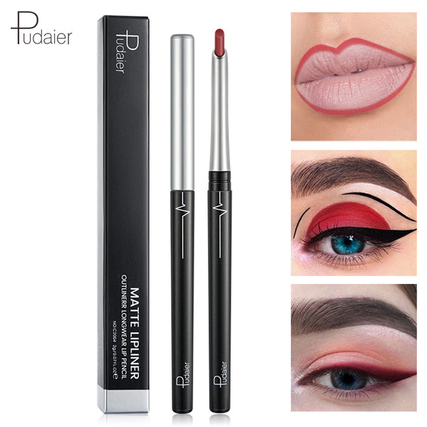NEW Pudaier Matte Lip Liner Pen Waterproof Naked Sexy Lipstick Women's Long Lasting Makeup Eyes Lip Liner Pencil Contour PRINCIPAL