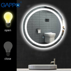 NEW Round LED Cosmetic Mirror with light adjustable wall mounted high definition mirror