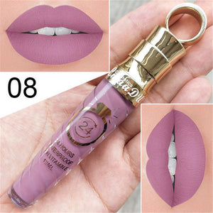 NEW!! Make Up Lips Matte Liquid Lipstick Waterproof Long Lasting Sexy Pigment Nude Glitter Style Lip Gloss Beauty Red Lip Tint