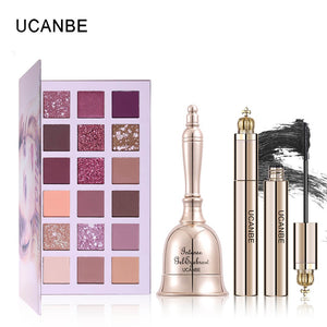 UCANBE 3pcs/lot NUDE Eye Makeup Set Shimmer Matte Eyeshadow Palette+Black Waterproof Mascara+Cream Eyebrow/Eyeliner Cosmetics