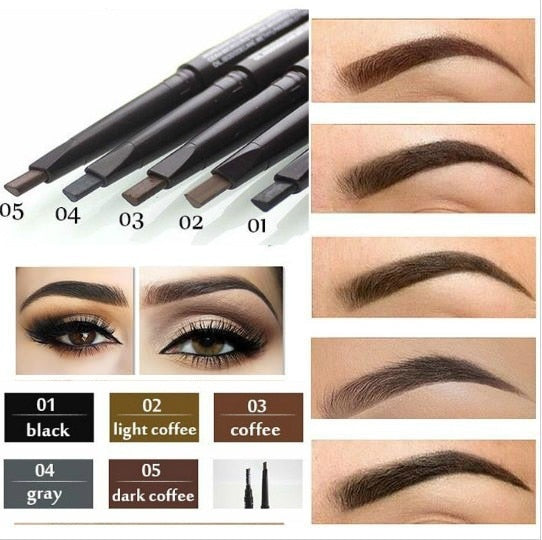Makeup Eyebrow Automatic Pro Waterproof Pencil Makeup 5 Style Paint Eyebrow Pencil Cosmetics Brow Eye Liner Tools