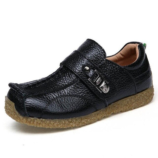 Boys Genuine Leather Dress Loafers