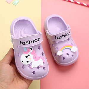Cartoon Rainbow Unicorn Beach Shoes